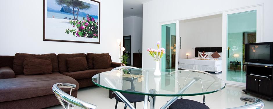 Nadivana Serviced Apartments Living Room
